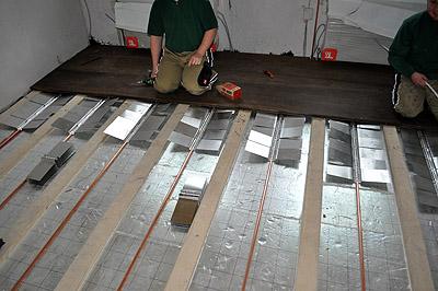 Fabulous Fußbodenheizung in einer Holzbalkendecke WO05